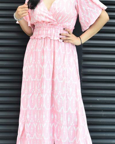 Quartz Pink Midi Dress