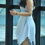 Blue Gingham asymmetric dress
