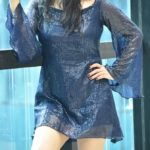Blue Sequin Mini Dress